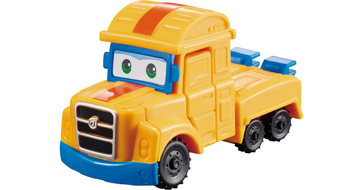 Super Wings Mini Spielzeugfigur Transform-Flugzeug  Poppa Wheel blau/gelb