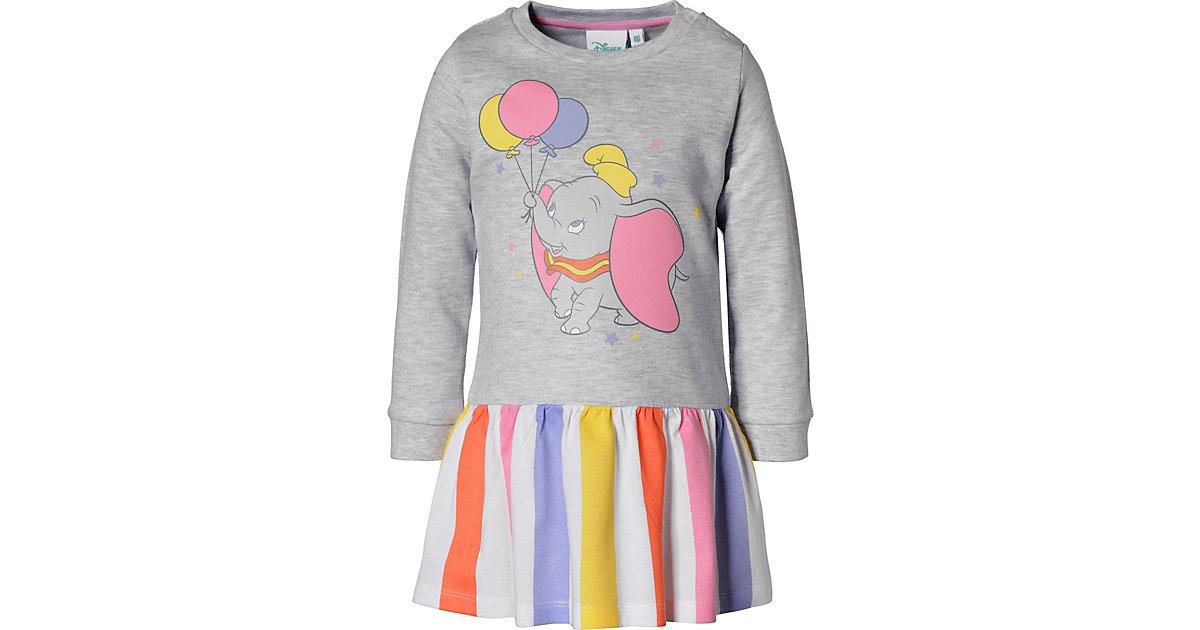 Disney Dumbo Baby Sweatkleid grau Gr. 62 Mädchen Kinder