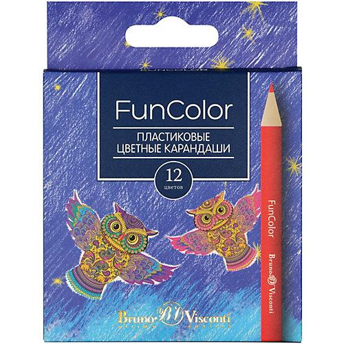 Карандаши цветные укороченные FunColor BrunoVisconti, 12 цветов от Bruno Visconti
