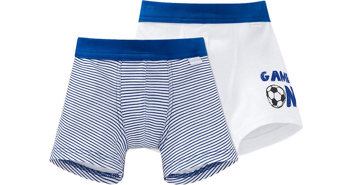 Doppelpack Boxershorts  blau/weiß Gr. 104 Jungen Kleinkinder