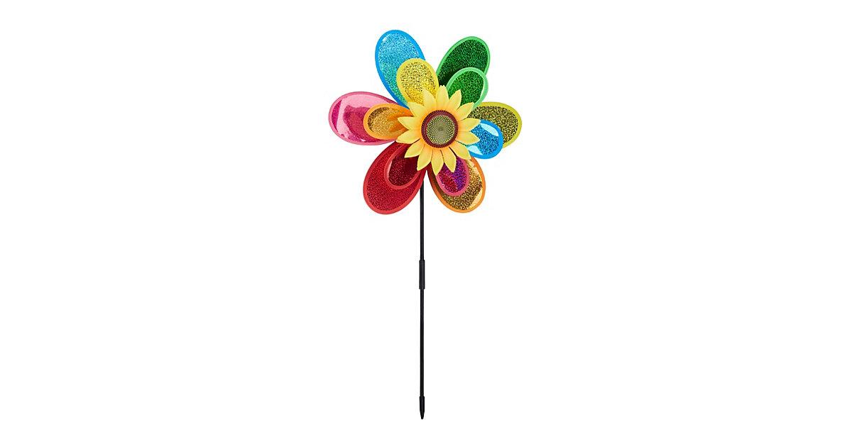 """Gartenstecker Windspiel """"Blume"""" mehrfarbig"""
