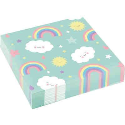 Servietten Rainbow & Cloud 33cm, 20 Stück