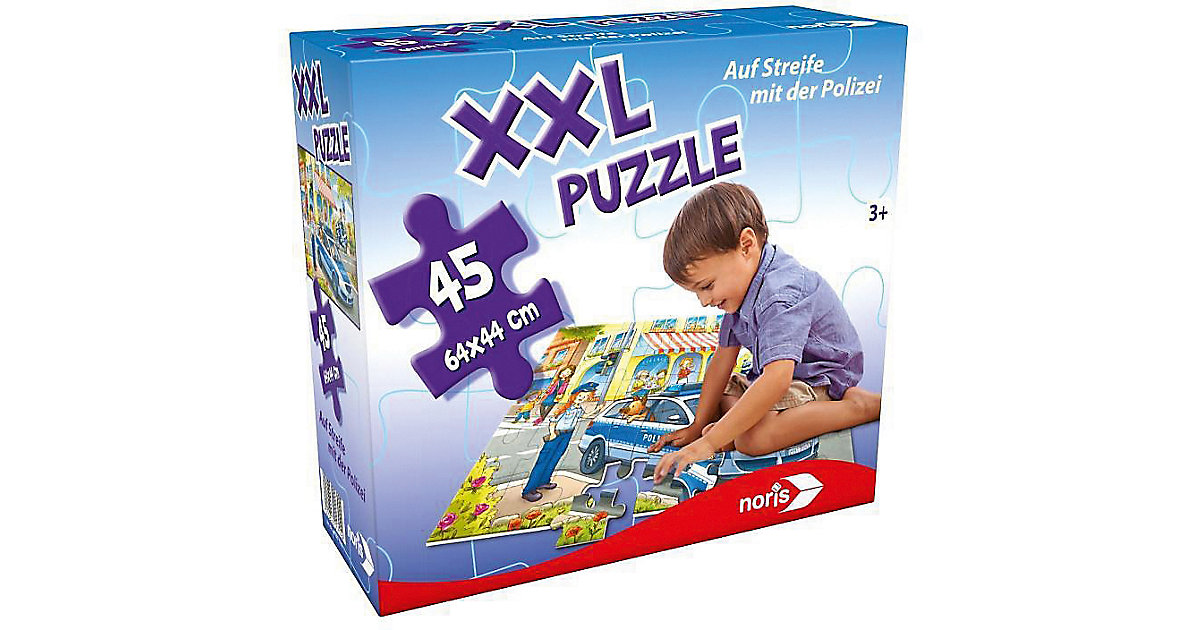 XXL Puzzle, 45 Teile, 64x44 cm, Auf Streife mit der Polizei