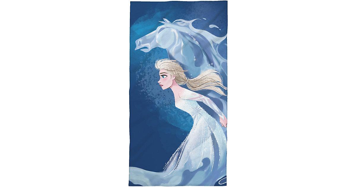 Strandtuch Disney Die Eiskönigin, Frozen 2, Horse, 75 x 150 cm blau/weiß | Bad > Handtücher > Saunatücher | Disney Dieeiskoenigin