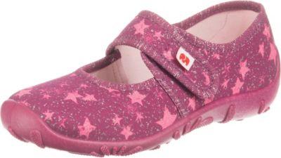 elefanten, Baby Hausschuhe Pia für Mädchen, pink   mirapodo