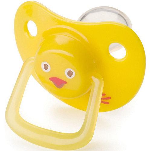 Пустышка Happy Baby «Цыпленок», 0-12 месяцев, желтая от Happy Baby