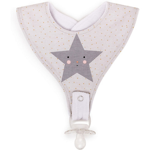 Нагрудный фартук  Happy Baby Star, с креплением для пустышки от Happy Baby