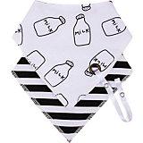 Набор нагрудных фартуков Happy Baby, 2 шт, черно-белый