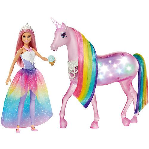 Игровой набор Barbie Dreamtopia Кукла и Радужный единорог от Mattel