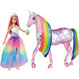 Игровой набор Barbie Dreamtopia Кукла и Радужный единорог