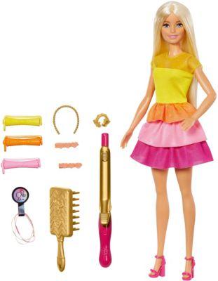 """Игровой набор Barbie """"Роскошные локоны"""" Кукла в модном наряде с аксессуарами для волос"""