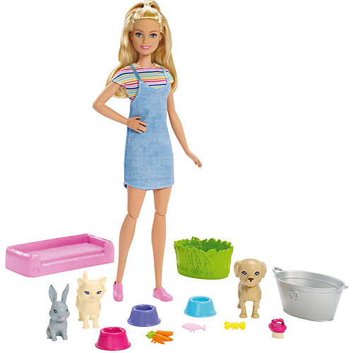 Игровой набор Barbie Кукла и домашние питомцы от Mattel