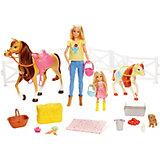 Игровой набор Barbie Куклы с лошадьми и аксессуарами