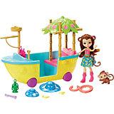 Игровой набор Enchantimals Мерит Мартыша и джунгли-лодка