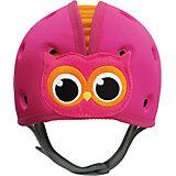 "Противоударная шапка-шлем SafeheadBaby ""Сова"", розово-оранжевая"