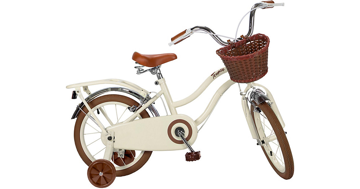 Fahrrad 16 Zoll Classic beige braun/weiß
