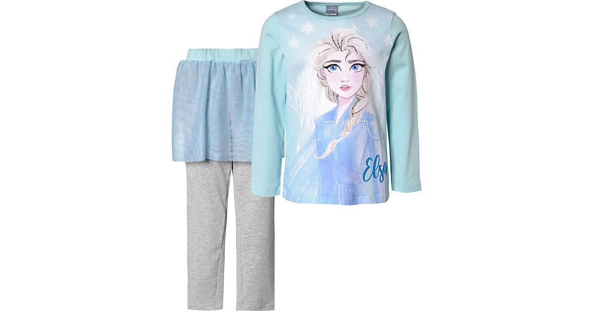 Disney Die Eiskönigin Schlafanzug mit Tüllrock  hellblau Gr. 92/98 Mädchen Kleinkinder