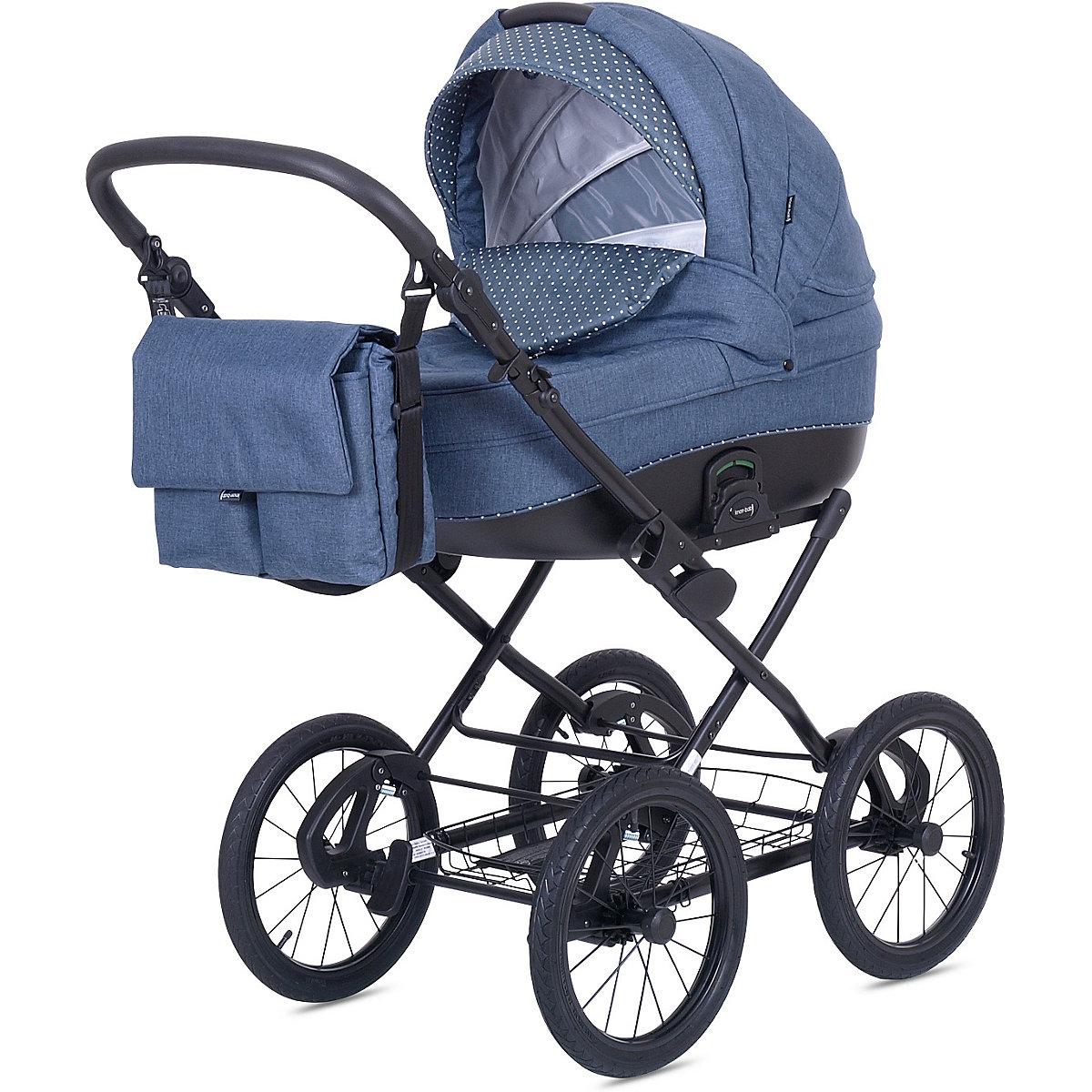 kombi kinderwagen kreta blau mit punkten knorr baby mytoys. Black Bedroom Furniture Sets. Home Design Ideas