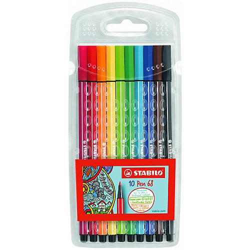 Набор фломастеров Stabilo Pen 68, 10 цветов от STABILO