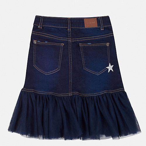 Джинсовая юбка Mayoral - темно-синий от Mayoral