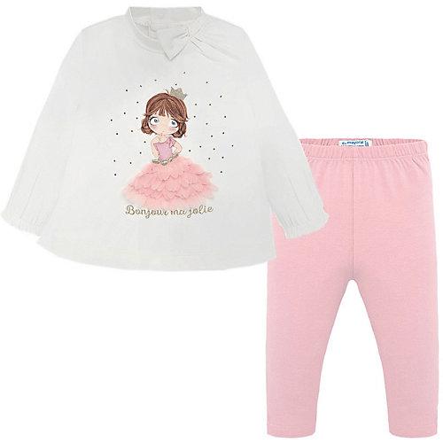 Комплект Mayoral: лонгслив и леггинсы - блекло-розовый от Mayoral