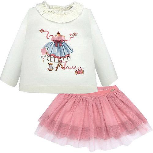 Комплект Mayoral: лонгслив и юбка - блекло-розовый от Mayoral