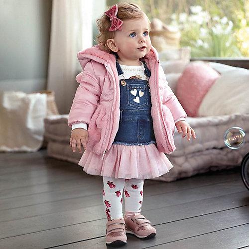 Джинсовый сарафан Mayoral - блекло-розовый от Mayoral