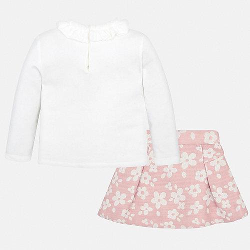 Комплект Mayoral: лонгслив и юбка - светло-розовый от Mayoral