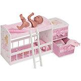 "Двухъярусная кроватка для кукол DeCuevas ""Мария"", 80 см"