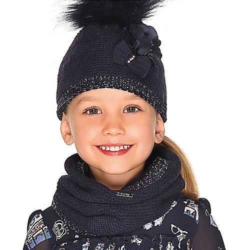 Комплект: шапка, шарф и перчатки Mayoral - темно-синий от Mayoral