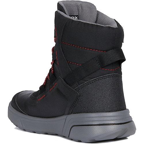 Утеплённые ботинки Geox - черный/розовый от GEOX