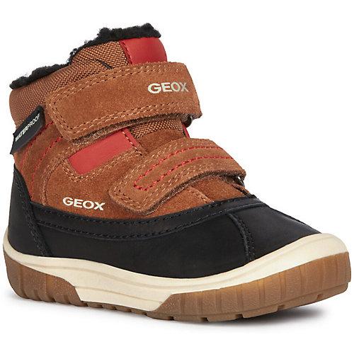 Утеплённые ботинки Geox - красный/коричневый от GEOX
