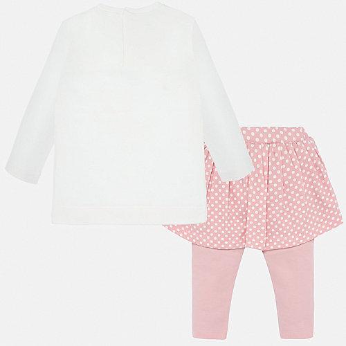 Комплект Mayoral: лонгслив и юбка-леггинсы - блекло-розовый от Mayoral