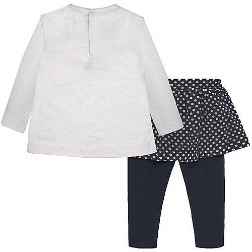 Комплект Mayoral: лонгслив и юбка-леггинсы - темно-синий от Mayoral
