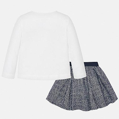 Комплект Mayoral: лонгслив и юбка - темно-синий от Mayoral