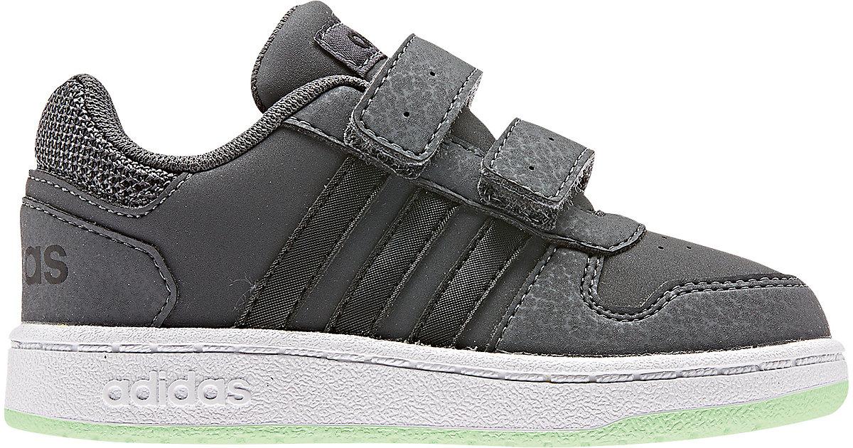 Baby Sneakers Low HOOPS 2.0 CMF  schwarz/grün Gr. 19 Jungen Baby