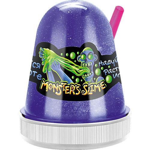 Светящийся слайм Monster Slime синий, 130 гр от KiKi