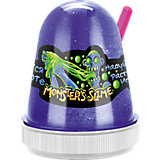 Светящийся слайм Monster Slime синий, 130 гр