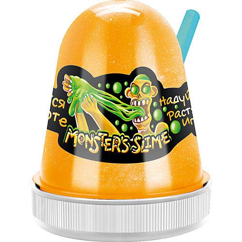 Светящийся слайм Monster Slime  желтый, 130 гр от KiKi