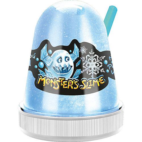 Слайм Monster Slime Цветной Лед, голубой, 130 гр от KiKi