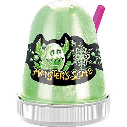Слайм Monster Slime Цветной Лед, зеленый, 130 гр от KiKi
