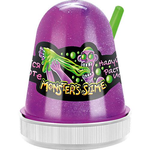 Светящийся слайм Monster Slime сиреневый, 130 гр от KiKi