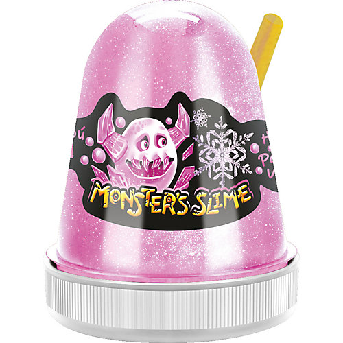 Слайм Monster Slime Цветной Лед, розовый, 130 гр от KiKi