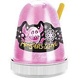Слайм Monster Slime Цветной Лед, розовый, 130 гр