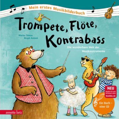 Buch - Mein erstes Musikbilderbuch: Trompete, Flöte, Kontrabass, mit 1 Audio-CD