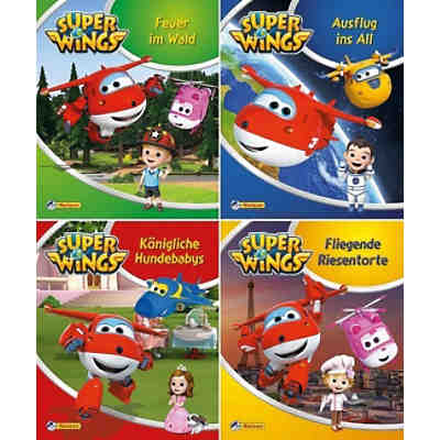 Nelson Mini-Bücher: Super Wings, 4 Hefte