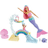 Игровой набор Barbie Dreamtopia Кукла с маленькими русалочками