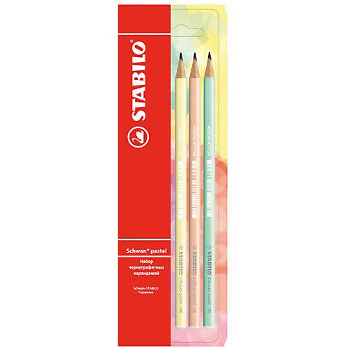 Набор чернографитных карандашей Stabilo Schwan Pastel, 3 шт от STABILO