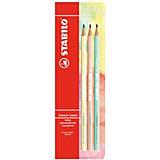 Набор чернографитных карандашей Stabilo Schwan Pastel, 3 шт