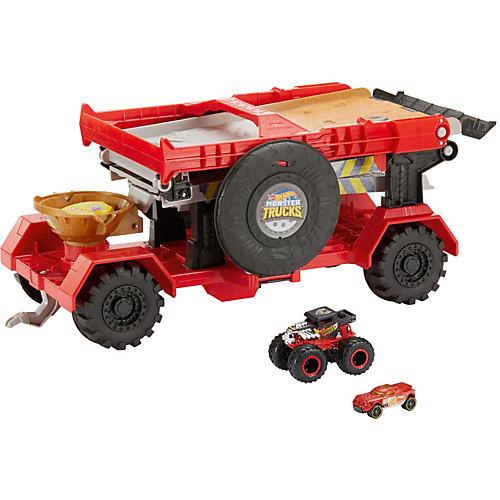 Автотрек Hot Wheels Monster Trucks Передвижная трасса для гонок от Mattel
